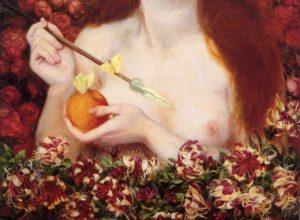 Dante Gabriel Rossetti - Venus Verticordia (detail)
