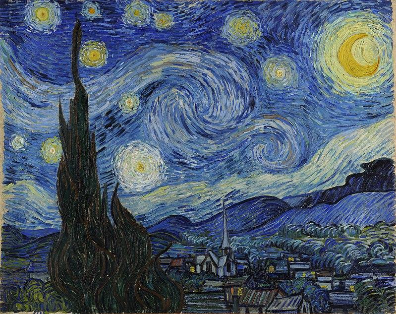 Νόρα Βιγιόν (aka Έφη Φρυδά): Βίνσεντ Βαν Γκογκ, Έναστρη νύχτα.